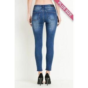 Jeans - Plus Size Shaded Skinny Jeans